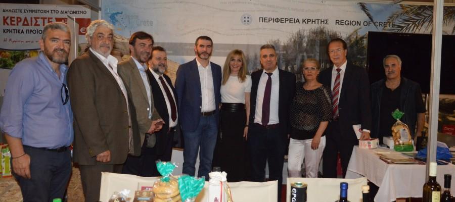 Χιλιάδες επισκέπτες στην Παγκρήτια Έκθεση Κρητικών προϊόντων στην Αθήνα με την συμμετοχή της Περιφέρειας Κρήτης