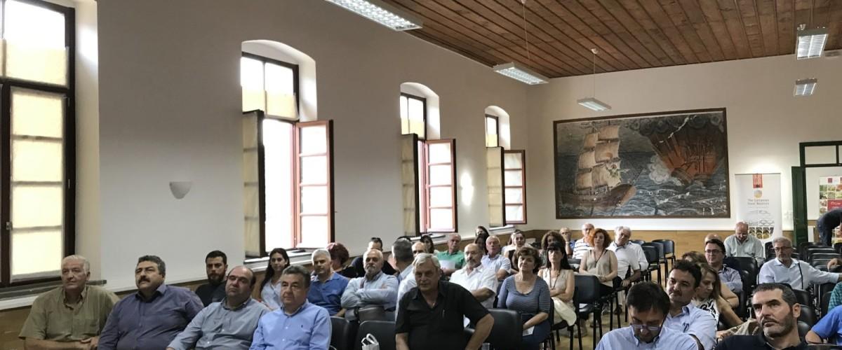 Με την αξιοποίηση της καινοτομίας και στον πρωτογενή τομέα θα παράξουμε ανταγωνιστικότερα, ποιοτικά και ασφαλή προϊόντα τόνισε ο Περιφερειάρχης Κρήτης σε ημερίδα της Αγροδιατροφικής Σύμπραξης